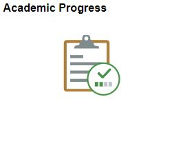 Academic Progress tile in MyNEVADA