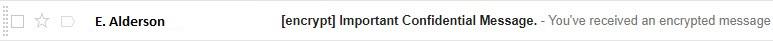 Screenshot of a Gmail message line.