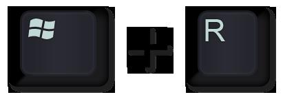 Screenshot of the Windows key and the R key.