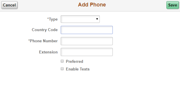 MyNEVADA Add Phone pop up window